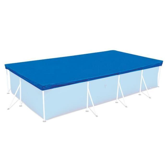 Couverture de piscine rectangulaire Couverture de piscine en PE résistant à l'eau-52