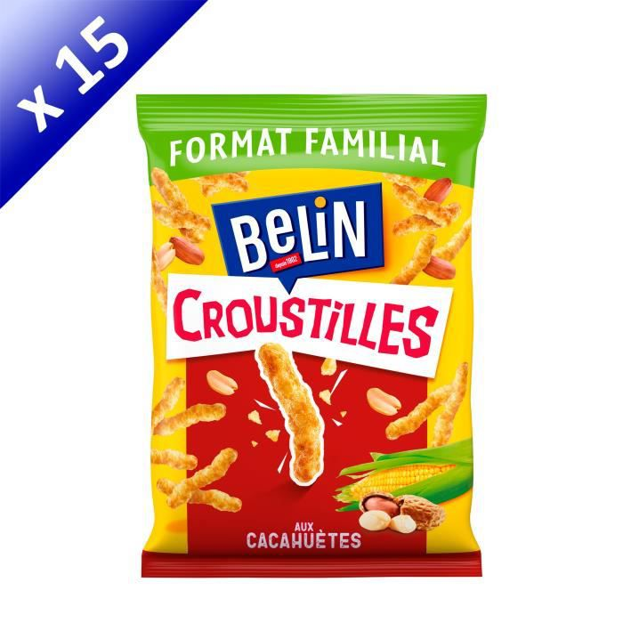 [LOT DE 15] Belin Croustilles Cacahuète Format Familial 138g
