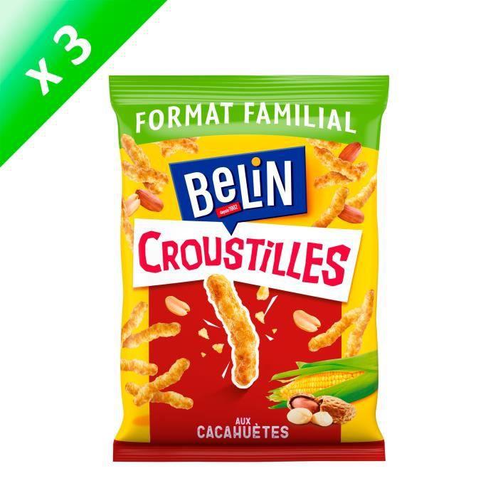 [LOT DE 3] Belin Croustilles Cacahuète Format Familial 138g