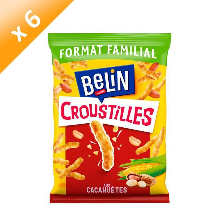 [LOT DE 6] Belin Croustilles Cacahuète Format Familial 138g