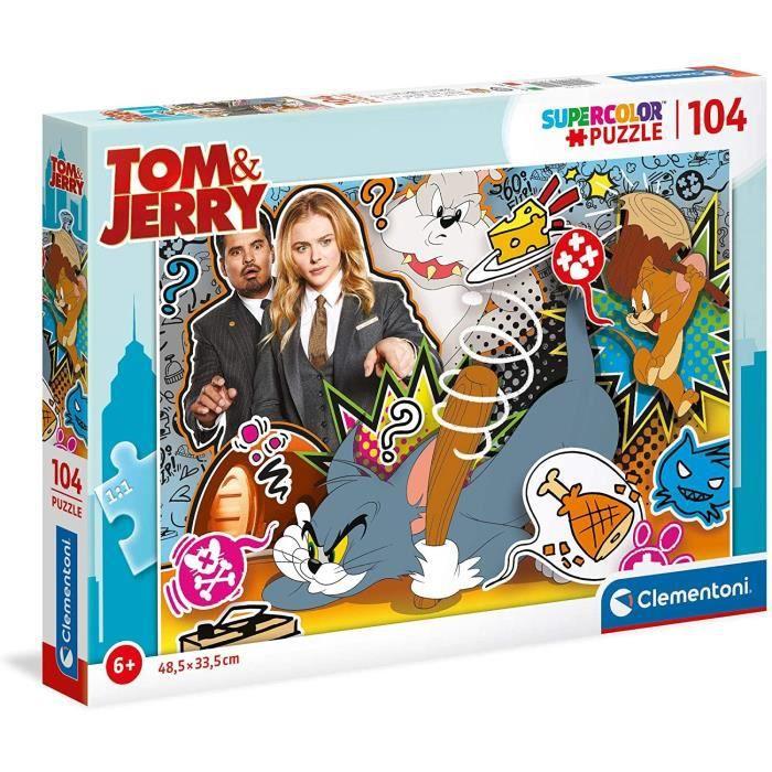 Clementoni - 27515 - SuperColor 104 pièces - Tom & Jerry