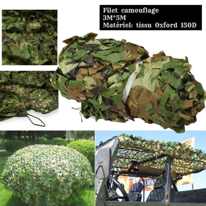 MSA 3 x 5M Filet de Protection Solaire pour Jardin, Filet de Camouflage Filet D'ombrage Auvents Vert Filet de Camouflage pour Tentes