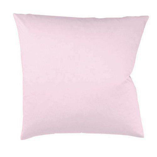 Fleuresse Taie d'oreiller Couleurs 9100-4040, 80x80 cm Satin Maco Couleur Rose clair, 100% Coton, avec Fermeture éclair