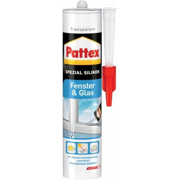 Pattex Silicone Fenetre et verre 300ml, transp. (Par 12)