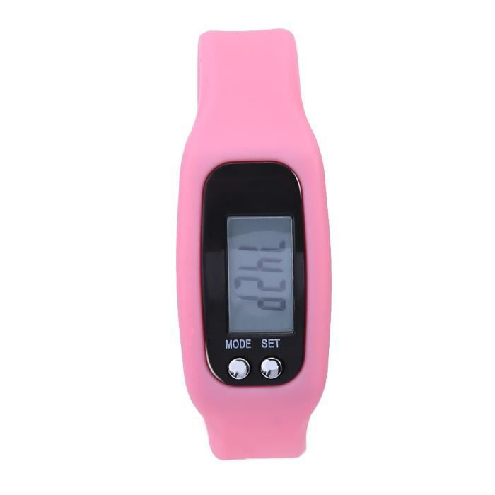 KIMISS Bracelet intelligent montre bracelet compteur de calories podomètre sport fitness (rose)-REN