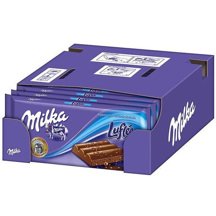 Milka Luflée Chocolat 11 x 100g