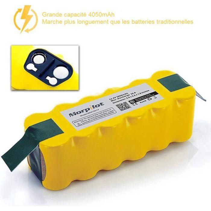 Batterie Ni-MH 4050mAhRoomba iRobot Aspirateur, Morpilot batterie pour iRobot Roomba Séries 500, 600, 700 800 900 Scooba 450