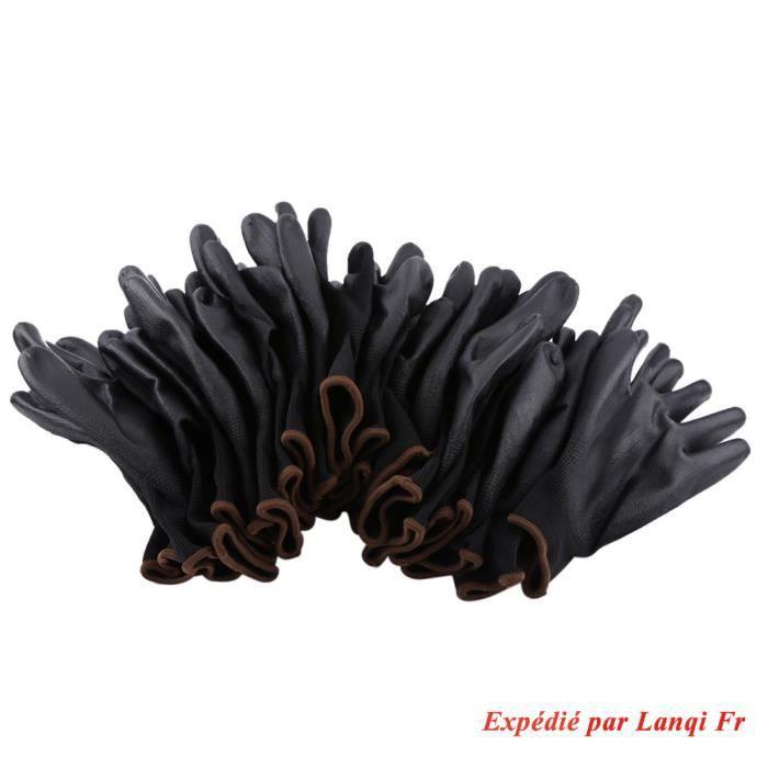12 pair Gants de travail Antistatique en Nylon PU Palme Gants - taille S M L