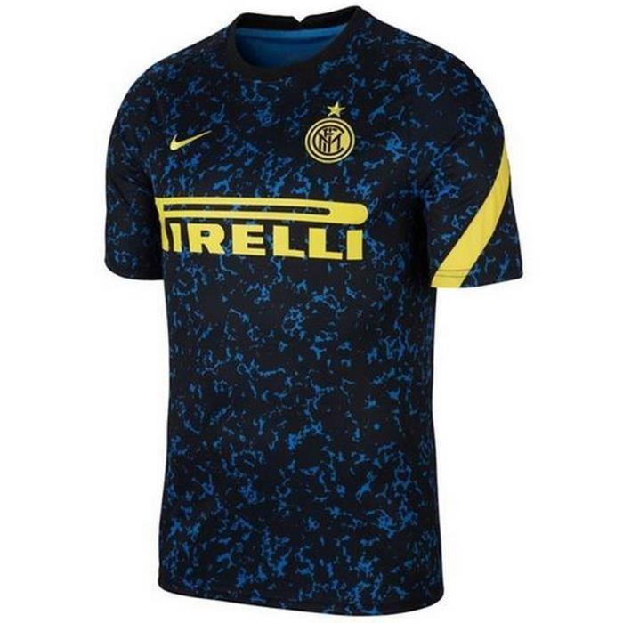 Nouveau Maillot Officiel Pré Match Homme Nike Inter de Milan Saison 2020-2021