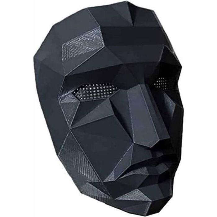 Masked Man Squid Game Masque, TV Cosplay Squid Game Props Souvenir Face Cover Game, Man Squid Game Accessoire de Couverture Faciale