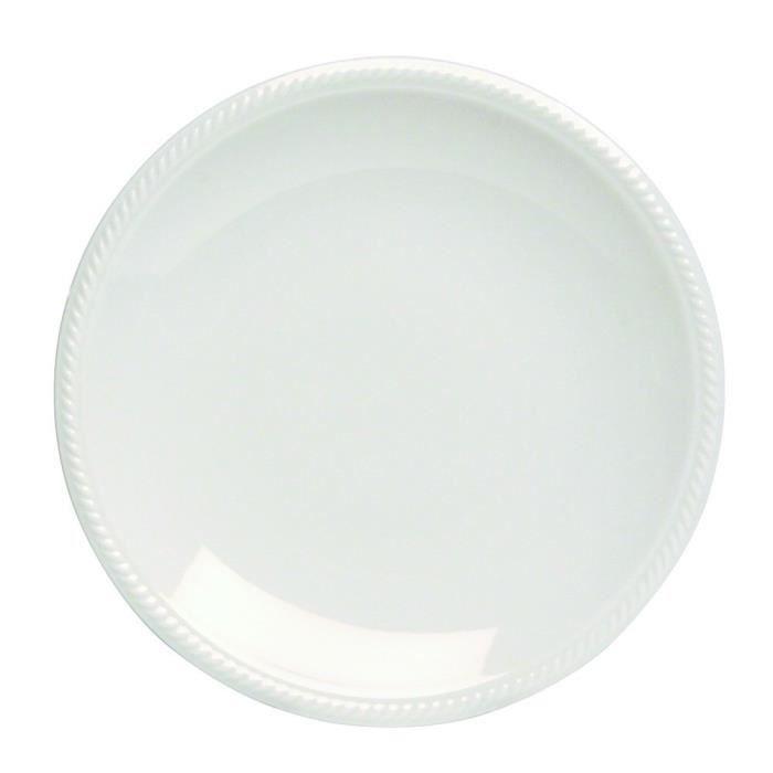 Tognana 27 cm Aluminium Lido Shore Assiette pour dîner Blanc