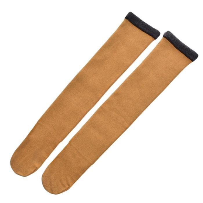 1 Pair Women Cotton Stocking Stylish Color Cold Protection Socks Long Tube Lady for Autumn ABATTANT WC - REHAUSSEUR WC