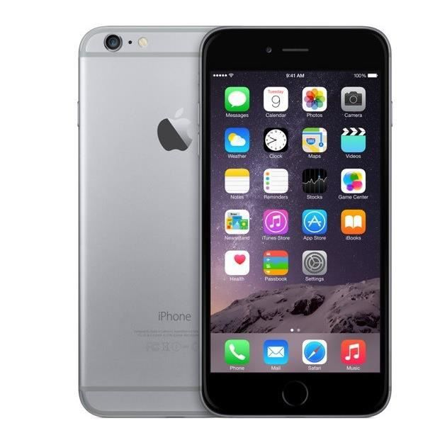 apple iphone 6 plus 64gb reconditionn a neuf noir achat. Black Bedroom Furniture Sets. Home Design Ideas