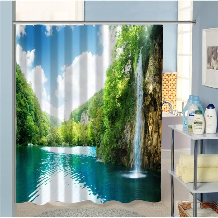 rideau cascade achat vente rideau cascade pas cher black friday le 24 11 cdiscount. Black Bedroom Furniture Sets. Home Design Ideas