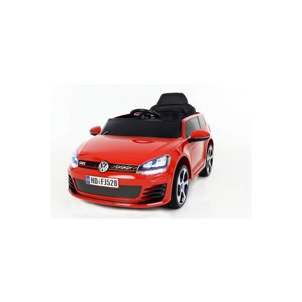 voiture lectrique 12v volkswagen golf gti rouge achat vente voiture enfant cdiscount. Black Bedroom Furniture Sets. Home Design Ideas