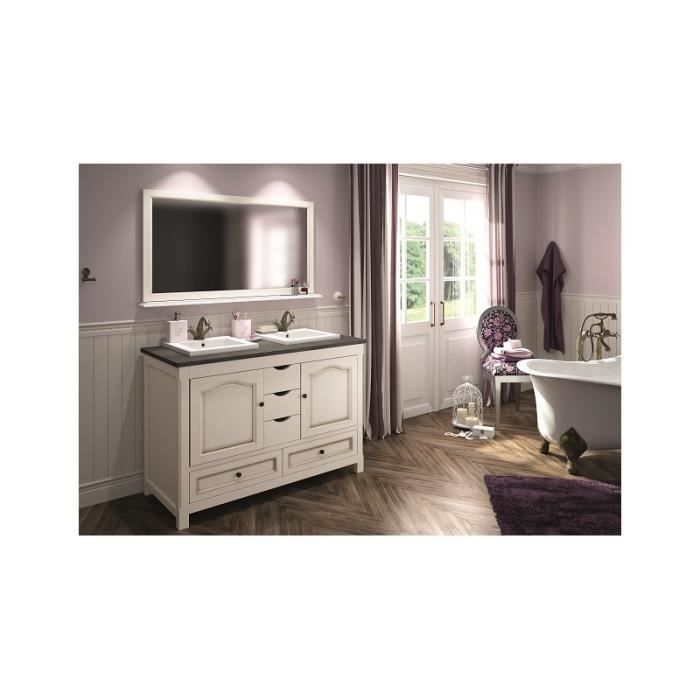 meuble salle de bain poser boheme blanc 120 cm bois massif mindy 55 cm achat vente. Black Bedroom Furniture Sets. Home Design Ideas