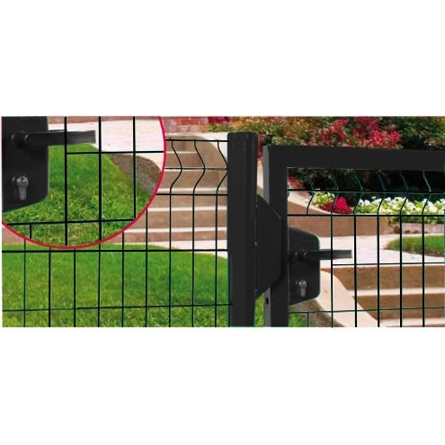 Portillon grillage ht 123 cm noir achat vente for Portillon grillage