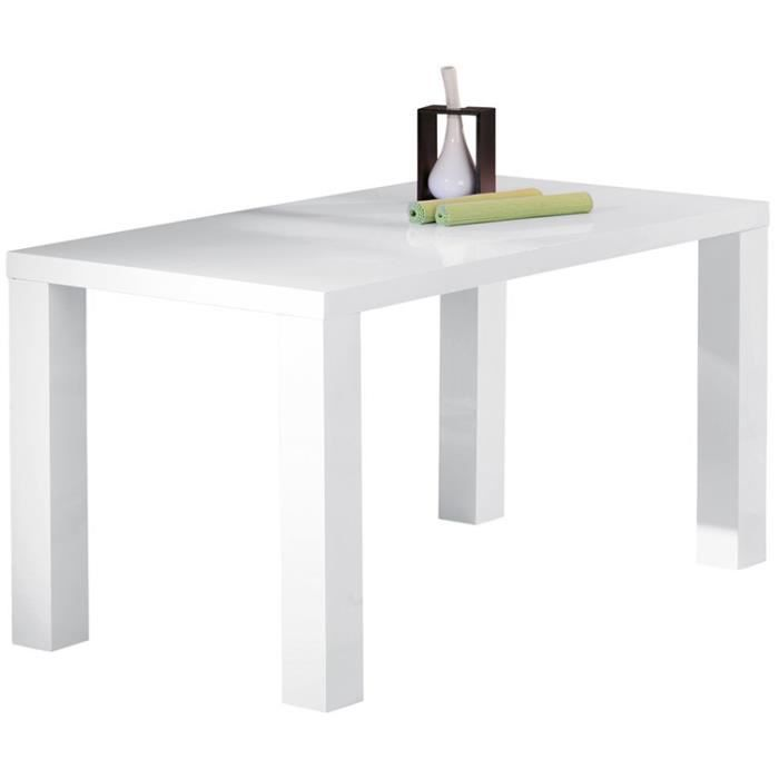 table de s jour blanc dim 160 x 80 x 75 cm achat. Black Bedroom Furniture Sets. Home Design Ideas