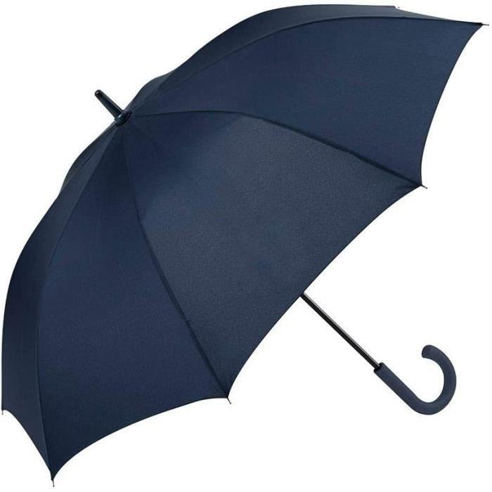 Ouverture et Fermeture Automatique avec Poign/ée Courb/ée et Tissu Uni Noir 20 Bleu 2 GOTTA Parapluie Long et Grand Coupe-Vent pour Homme