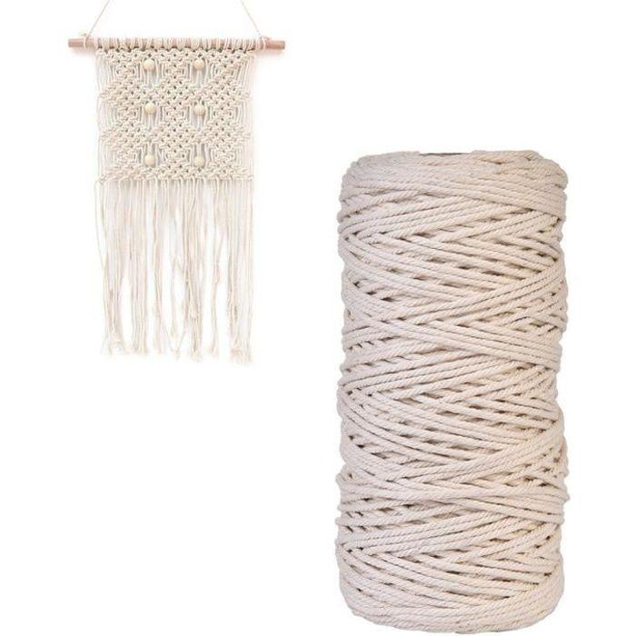 Corde en coton 8/brins 4/mm 10m