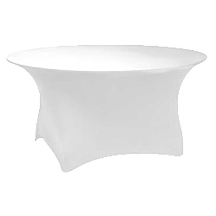 Nappe table ronde blanche - Achat / Vente Nappe table ronde ...
