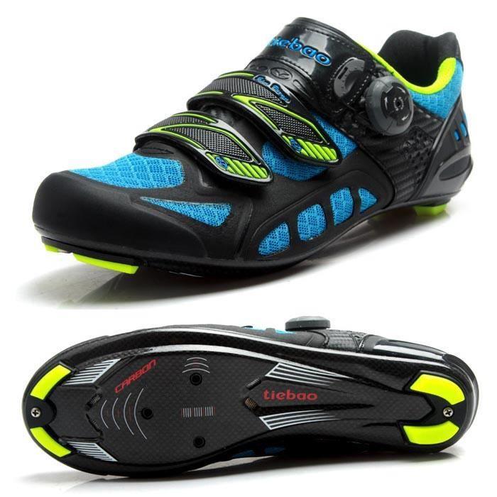 Color : Rouge , Taille : UK5//EU38//US6 Semelle en Fibre de Carbone Robuste Chaussures de V/élo de Course VTT Autobloquantes de Montagne en Plein Air EU 38-48 Chaussures de Cyclisme de Route Hommes
