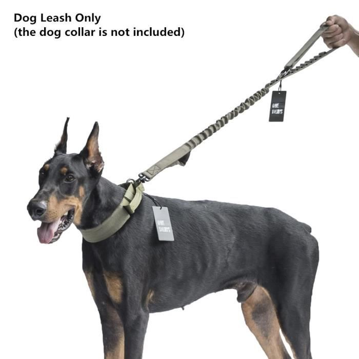 Onetigris Tactical Adjustable Dog Leash Nylon Bungee Traffic Lead For Walking Xvrze