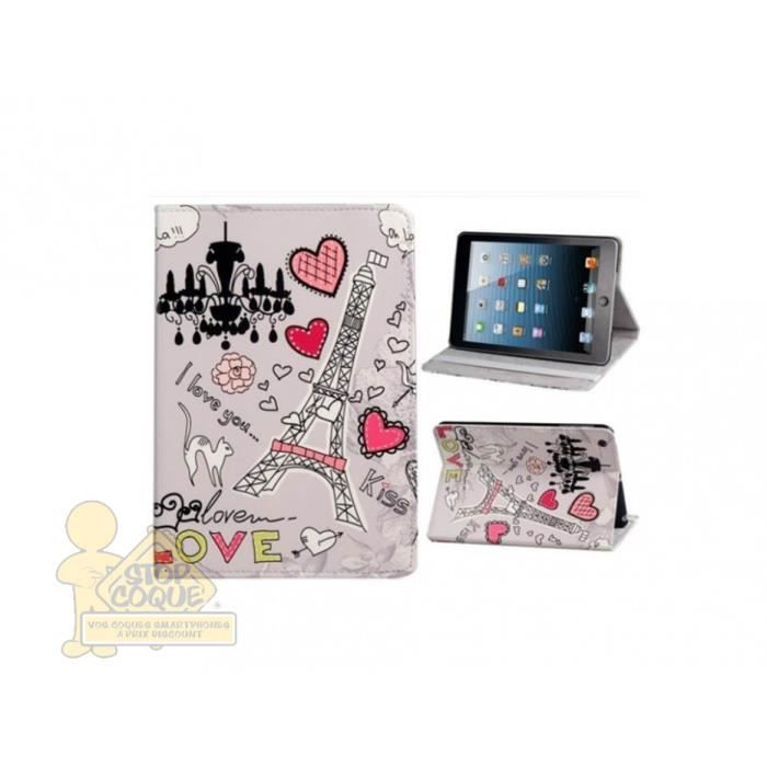Etui inclinable pour ipad 2 3 4 motif tour eiffel achat for Housse causeuse inclinable