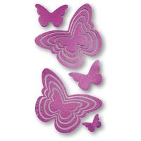 PAPILLONS Stickers muraux scintillants DEAB