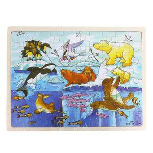 PUZZLE Fricemarke 60 pièces de puzzle en bois - animaux p