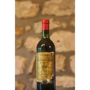 VIN ROUGE Vin, rouge, Château Bellevue Figeac 1982 Rouge