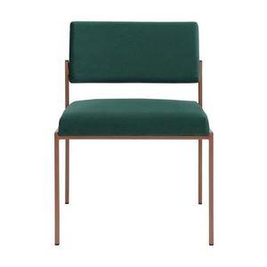 CHAISE Chaise vintage en velours vert empire Vert