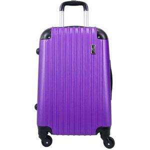 VALISE - BAGAGE Valise Grande taille 4 roues 75cm rigide violet -