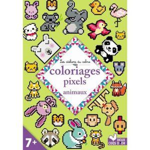 LIVRE LOISIRS CRÉATIFS Coloriages pixels animaux
