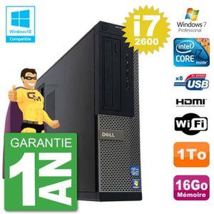 UNITÉ CENTRALE  PC Dell 390 DT Intel i7-2600 RAM 16Go Disque Dur 1