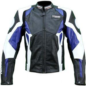 BLOUSON - VESTE Kc026 Blouson veste cuir moto KARNO bleu - PHANTOM
