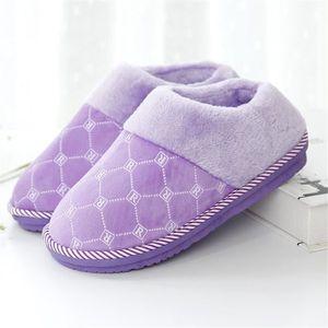 légères Pantoufles De Doux Coton Femmes Chaussons antidérapants