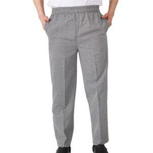 PANTALON PRO WWZ Pantalon de cuisine en gris Home confortable P
