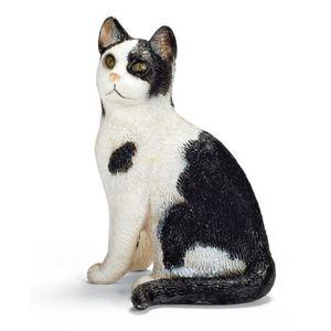 Schleich Chat Assis Figurine Animal 13771
