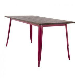 TABLE À MANGER SEULE Table LIX en Bois (160x80) Rouge Sangria Bois Fonc