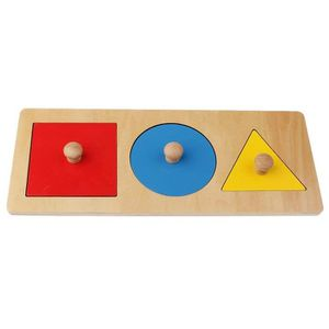 JEU D'APPRENTISSAGE 1 Kit Montessori Geometrie Jouet en Bois - Jeu Edu