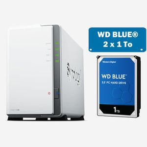 SERVEUR STOCKAGE - NAS  Synology DS218J WD BLUE 2To