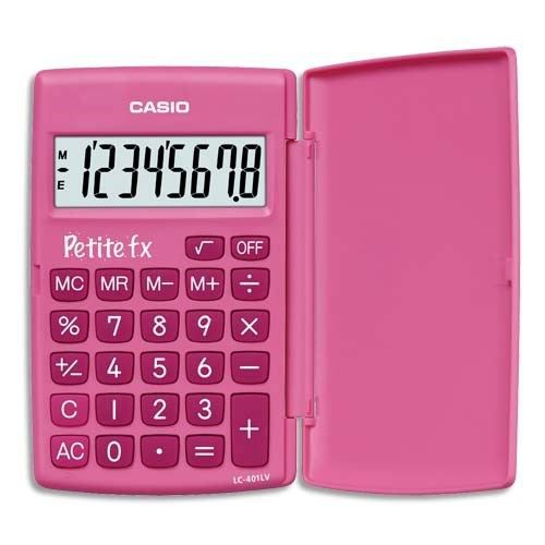 CASIO - Calculatrice scientifique petite rose
