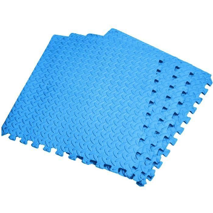 Poupon V80SW 60 cm * 60 cm budabase 12mm épaisseur imbriquée eva douce mousse exercice tapis de sol gym garage bureau play mat noir