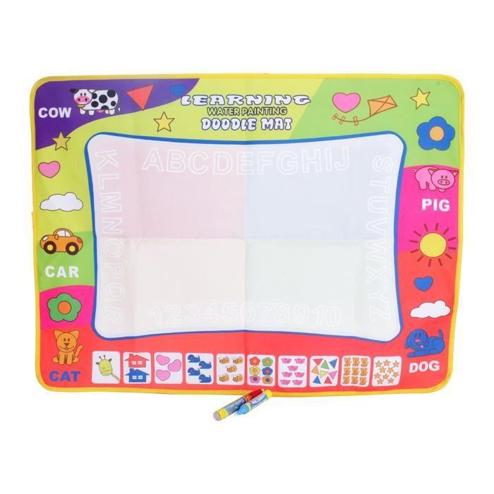 Tapis de dessin, tapis d'écriture dessin de l'eau pour enfants jouet cadeaux