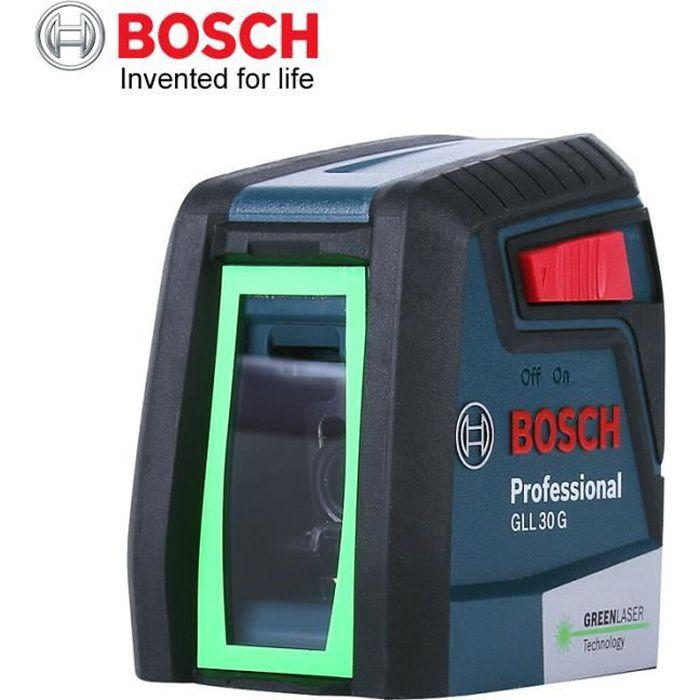 Niveau Laser BOSCH GLL30G feu vert Horizontal Vertical haute précision Instrument à deux lignes intérieur ou extérieur nivellement