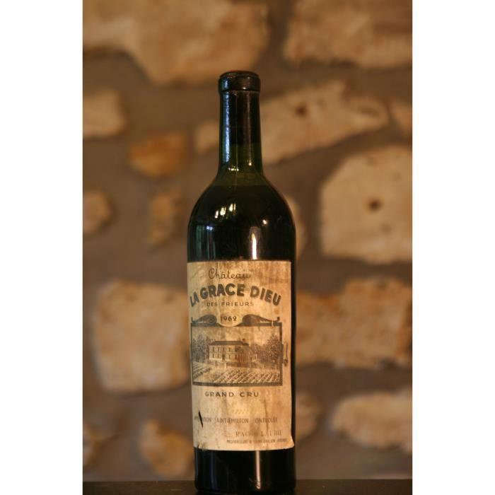 Vin rouge, Château La Grace de Dieu 1962 Rouge