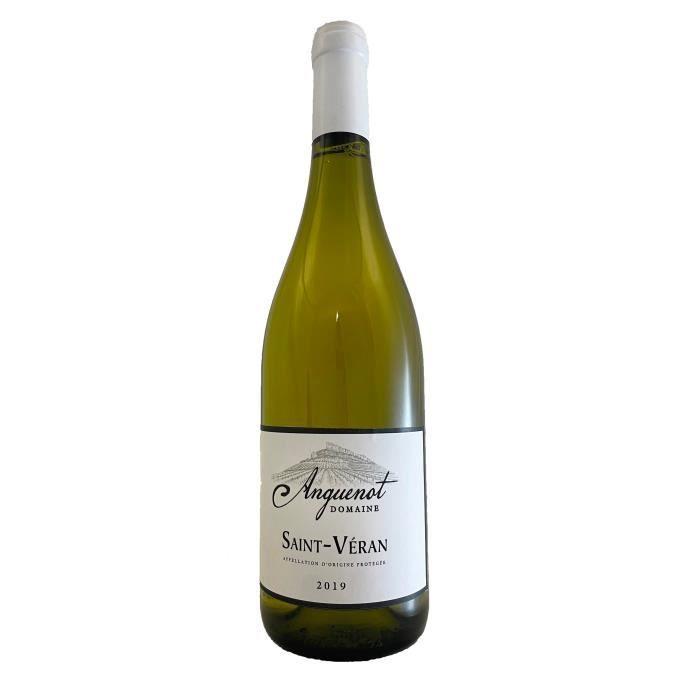 Saint Véran 2018 Domaine Anguenot -75 cl - Vin Blanc AOP de Bourgogne - Cépage Chardonnay