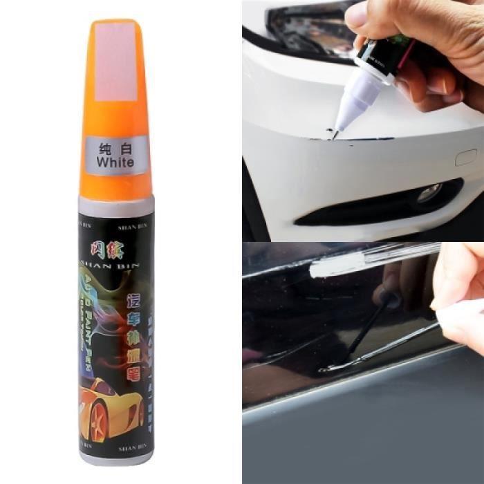 Peinture Auto - Stylo de peinture automatique d'entretien de réparation de rayures de voiture (Blanc)