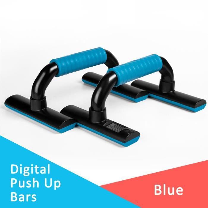 KYTO Push Up barres équipement d'exercice supports numériques en forme de I Gym accueil exercice outil - Modèle: Bleu -